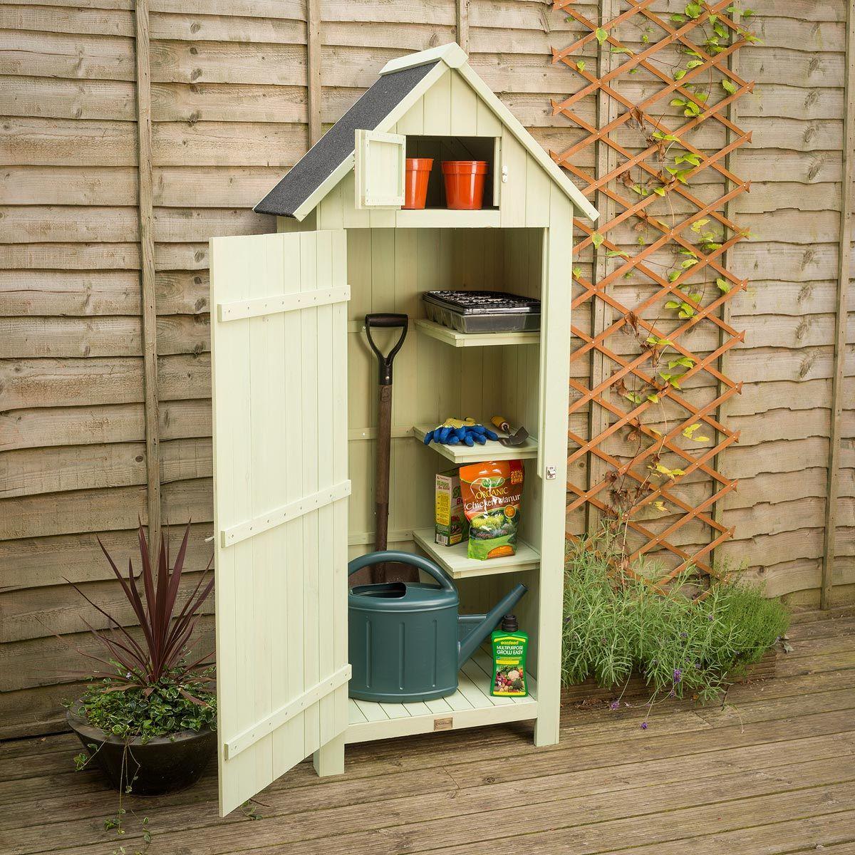 Christow Slimline Garden Shed With Lockable Door | Small garden ...