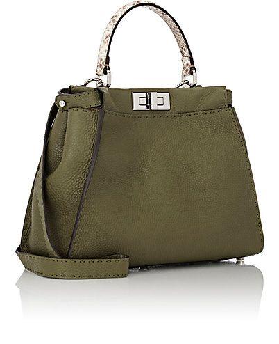 f6254f4b69ee Fendi Selleria Peekaboo Satchel - - Barneys.com Camo Bag
