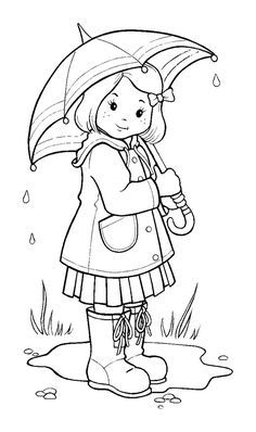 Top 10 Free Printable Rain Coloring Pages Online Umbrella