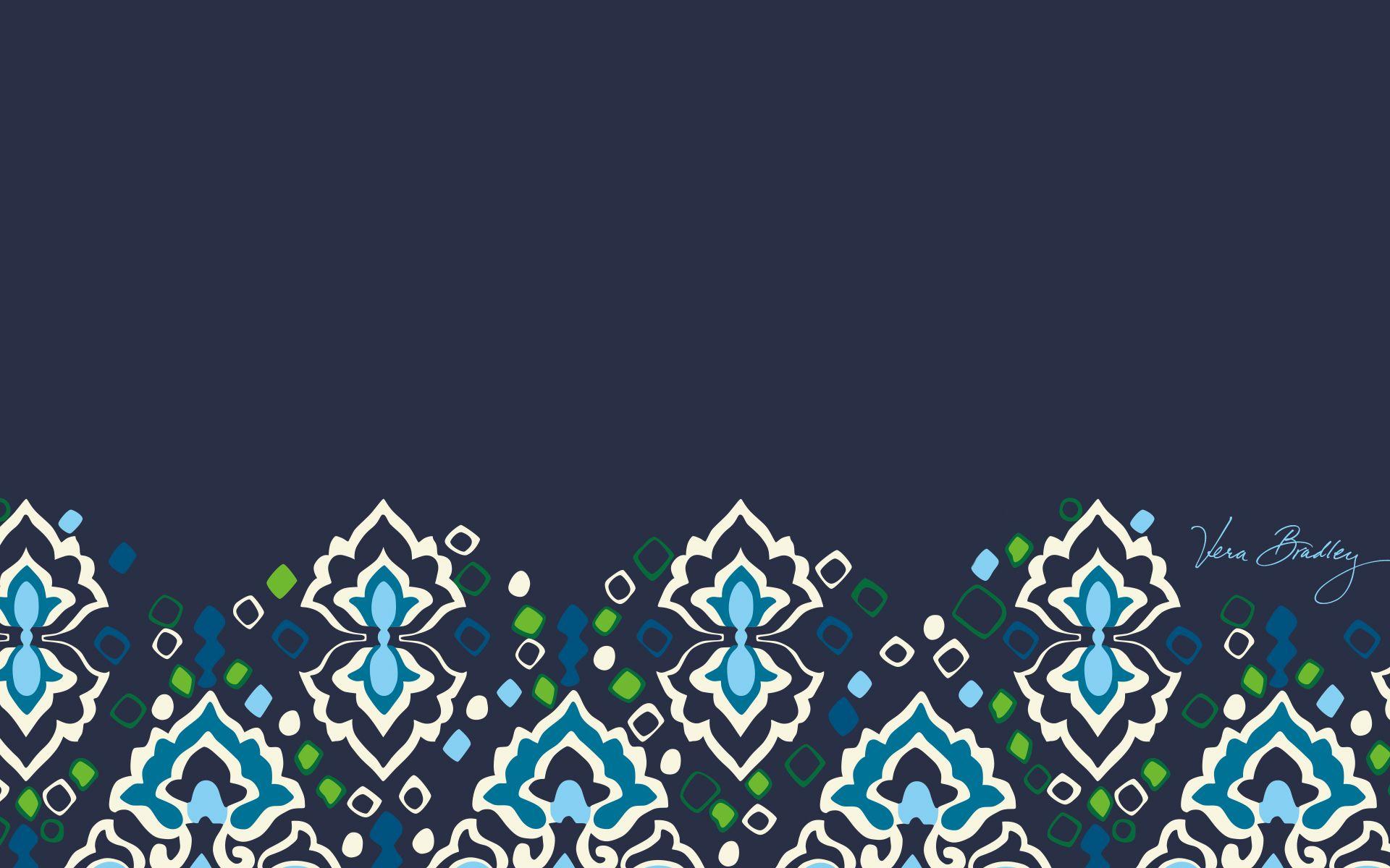 Dress Your Tech Ink Blue Desktop Wallpaper Vera Bradley Vera Bradley Wallpaper Dress Your Tech Fashion Wallpaper