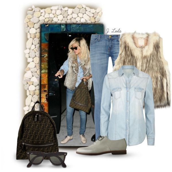 """Faux Fur Vest3"" by jessicaleila on Polyvore"