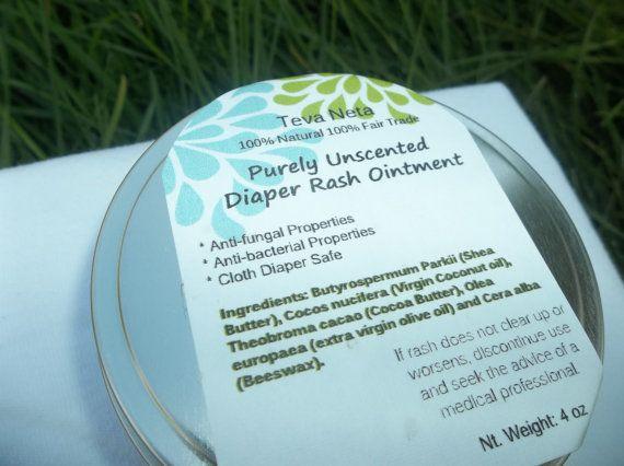 All Natural Diaper Rash Ointment 4 oz by TevaNeta, $9.45 ...