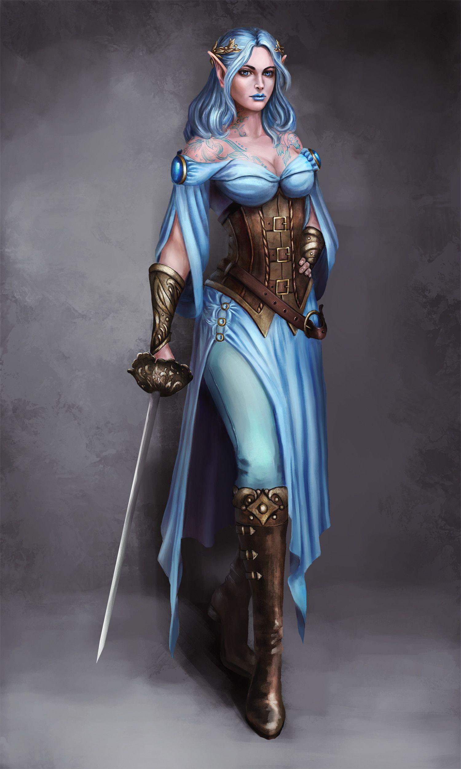 ArtStation - Female Elf Warrior, Kceon Nika   chick s of ...