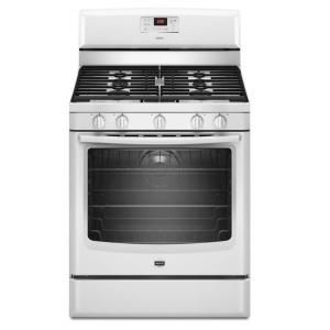 Maytag Aqualift 5 8 Cu Ft Gas Range With Self Cleaning Convection Oven In