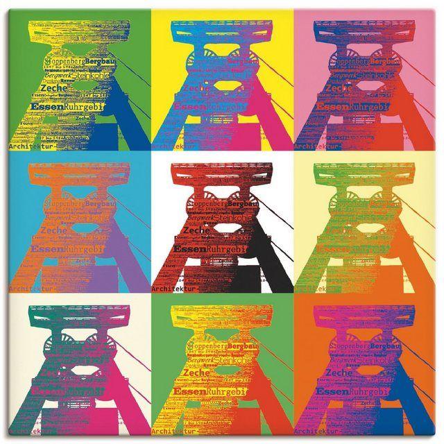 "Photo of Artland Art Print Poster ""Gabi Siebenhühner: Förderturm Pop art""   OTTO"
