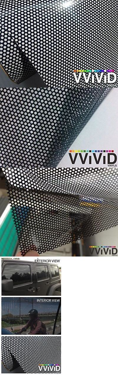 VViViD One-Way Screens Perforated Black Vinyl Privacy Window Film Adhesive Glass
