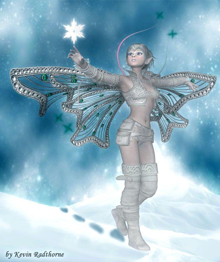 Картинки эльфы в снегу