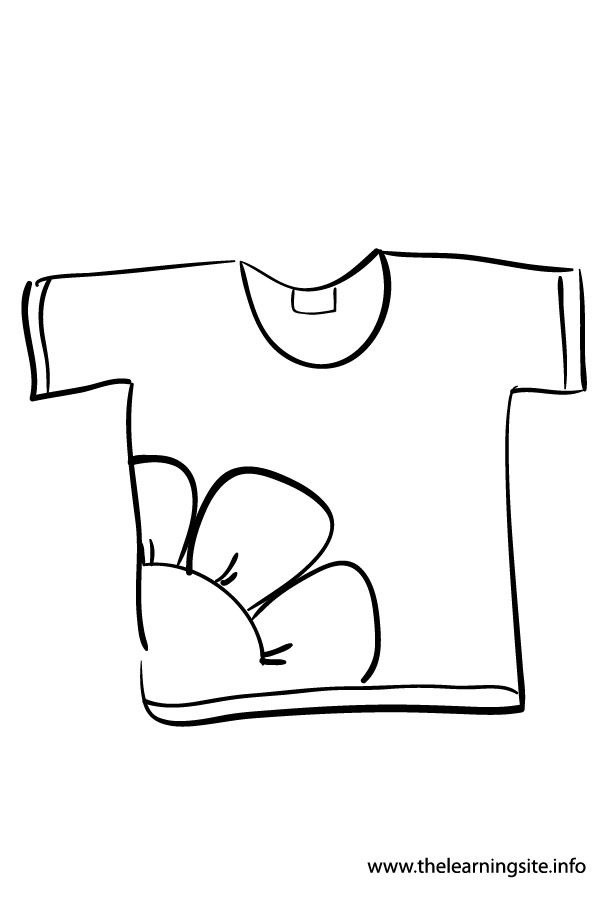 the learning site coloring pages clothes - T Shirt Coloring Page
