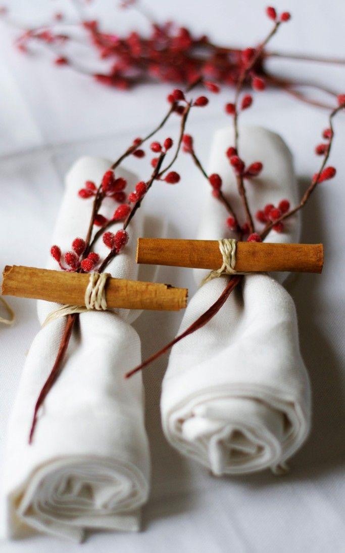 Servietten kreativ falten zur winterhochzeit oder f r for Servietten falten festlich