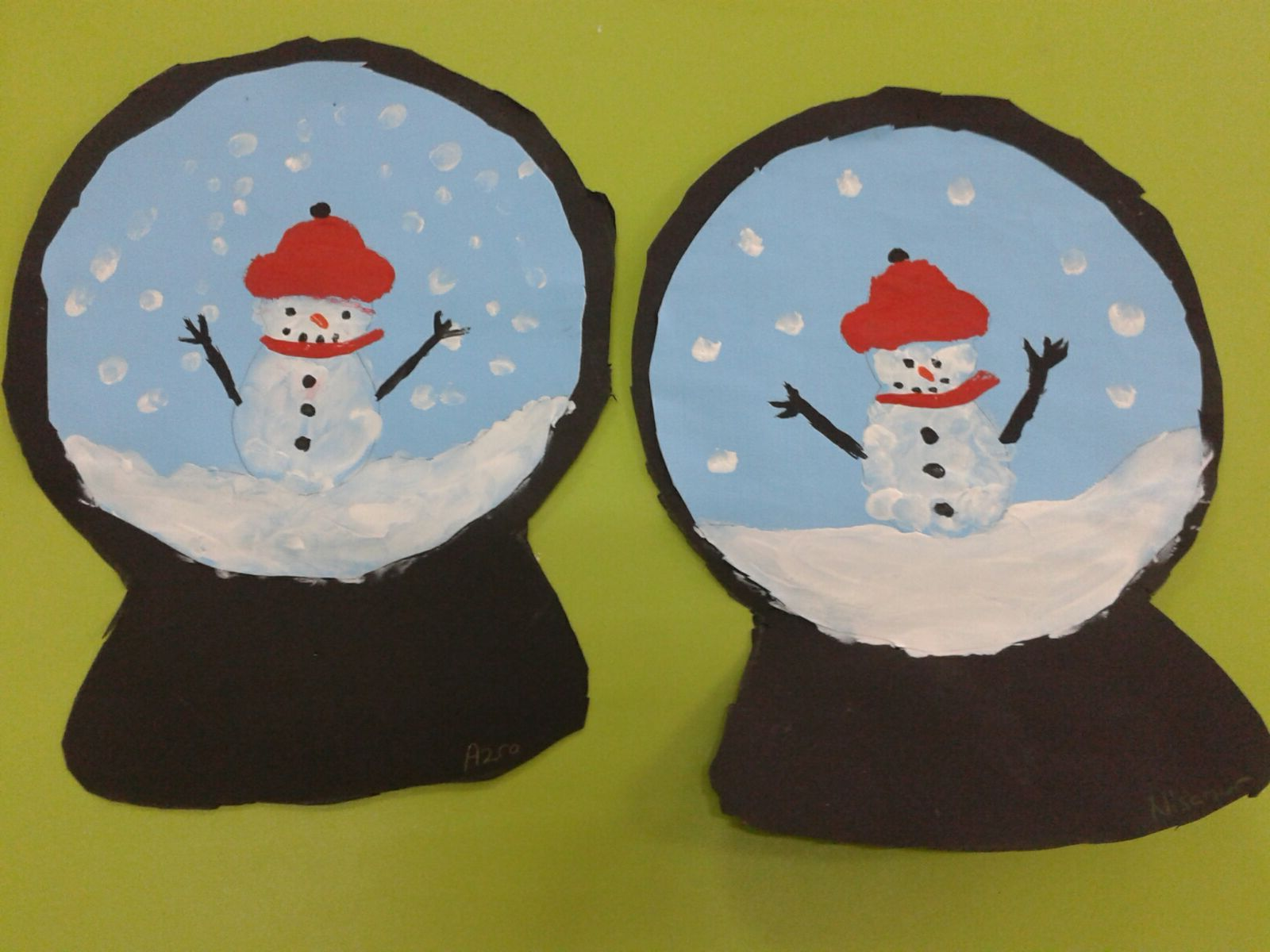 Snow Globe Craft Idea For Kids