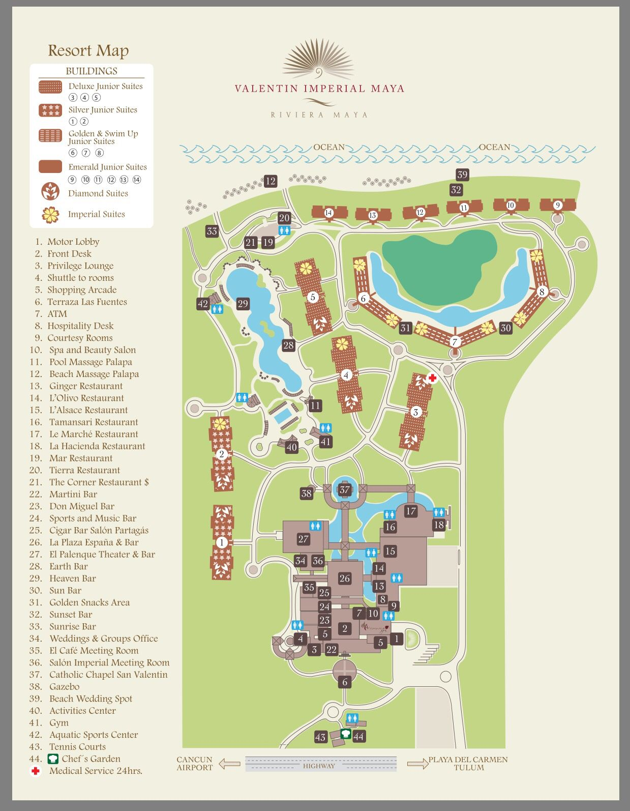 Valentin Imperial Maya Resort Map Mexico Pinterest