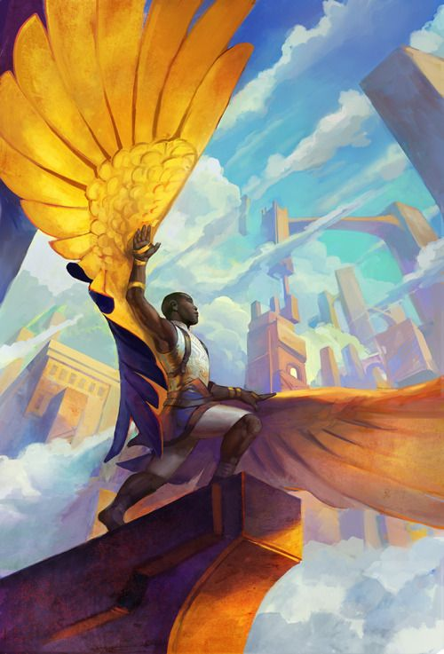 "juliedillon: "" New illustration: ""Skyward Bound"" "" More male art at www.theartofman.net and www.vitruvianlens.com 20% Discount with code 2PY4TP97"