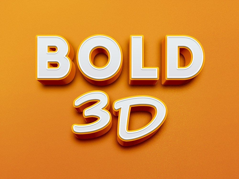 Bold 3d Text Effect Fribly Free Photoshop Text Photoshop Text 3d Text Effect