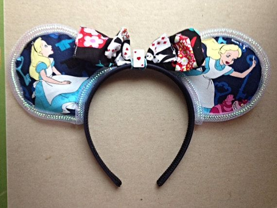 Alice Mouse Ears Alice Costume Minnie Ears Alice in Wonderland Minnie Ears Wonderland Ears Alice Mickey Mouse Ears Alice Disney Ears