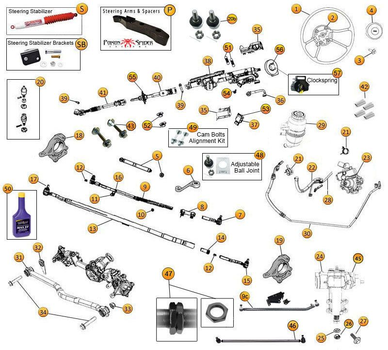 Interactive    Diagram     Wrangler JK    Steering         JEEP    INFO