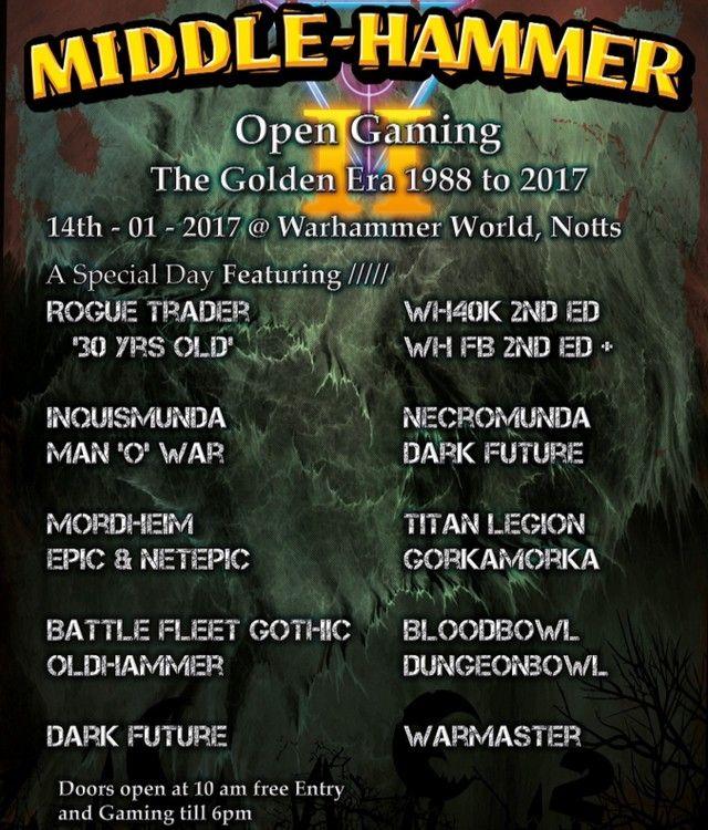 Middle Hammer Oldhammer Wargaming Event Https Goo Gl 1xlfgb