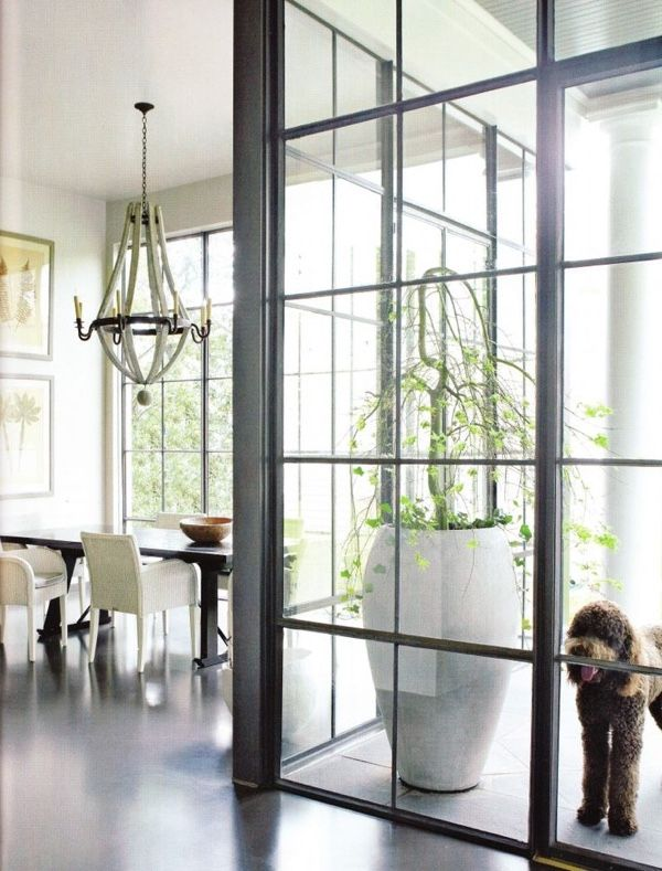 On Trend Floor To Ceiling Glass And Steel Windows Veranda