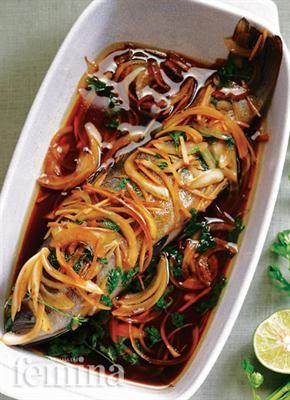 Tim Ikan Kerapu : kerapu, Kerapu, Makanan, Ikan,, Resep