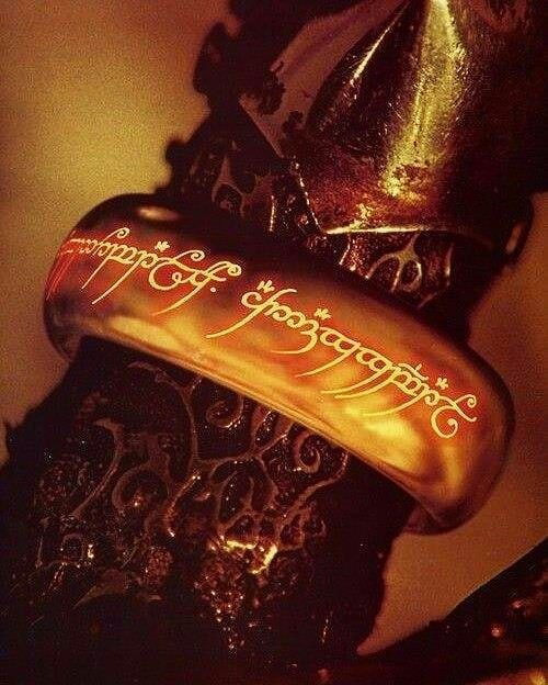 The One Ring On Sauron S Finger Lord Of The Rings Rings