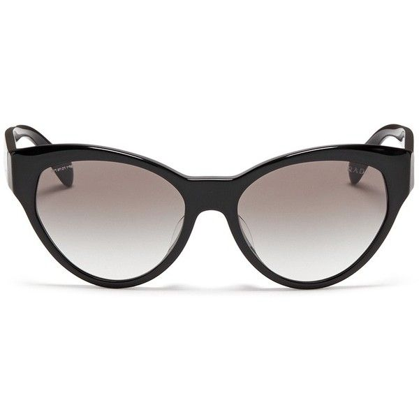 5e0383577b119 Prada Acetate cat eye sunglasses ( 240) ❤ liked on Polyvore featuring  accessories