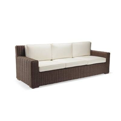 Sofa BedSleeper Sofa Hyde Park Sofa with Cushions in Ocean Grey Finish Frontgate