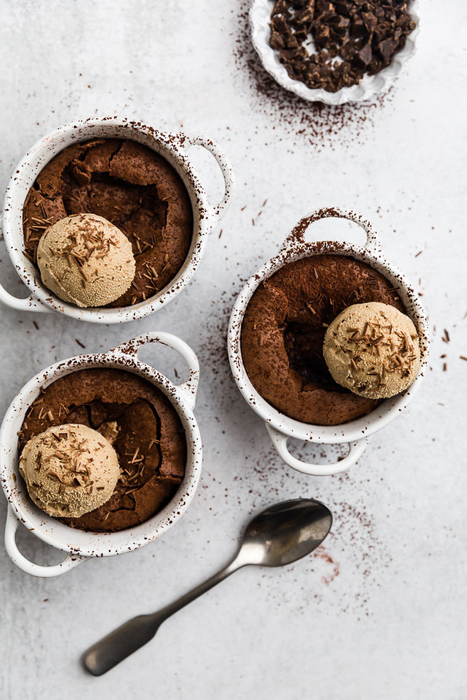 Photo of Flourless Molten Chocolate Cakes – Browned Butter Blondie