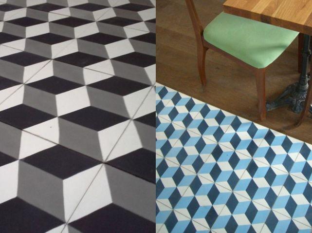 charmeetparquet3dcarreauxdeciment   motif + géométrique
