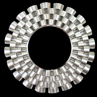 279 Hermes Silver Leaf Mirror 120cm Far Pavilions