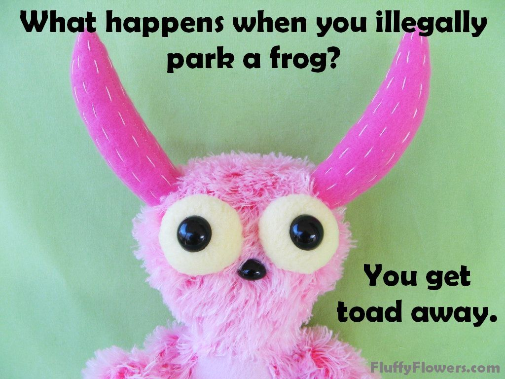 cute & clean frog kids joke for children featuring an