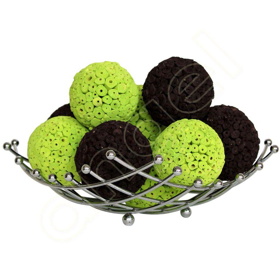 Green Decorative Balls Lime Splice And Chocolate Large Decorative Ballsangel