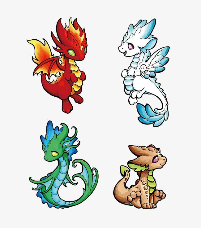Vector De Agua Y Fuego Tierra Cuatro Elementos Dragones Dragon Dragon De Fuego Dragon De Agua Png Y Psd Para Descargar Gratis Pngtree Cute Dragon Drawing Elemental Dragons Dragon Art