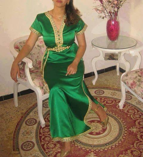 Green Caftan Simple Moroccan Clothing Moroccan Dress Morrocan Dress