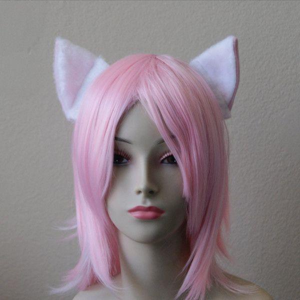 Cosplay Cat headband Black kitten ear anime Set of Cat Ear Headbands cat head band