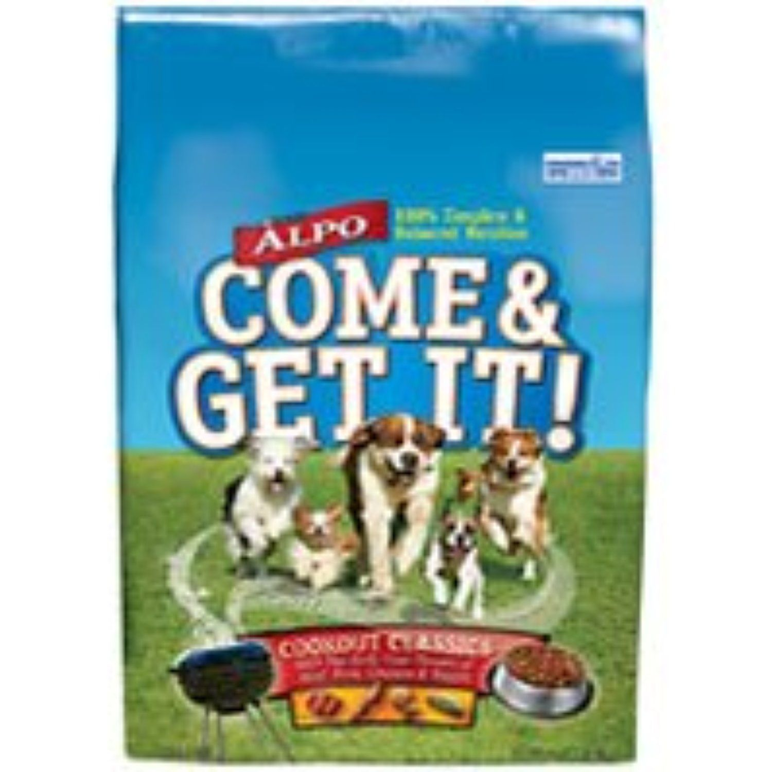 ALPO DOG FOOD COME AND GET IT! DRY BEEF, LIVER, CHICKEN