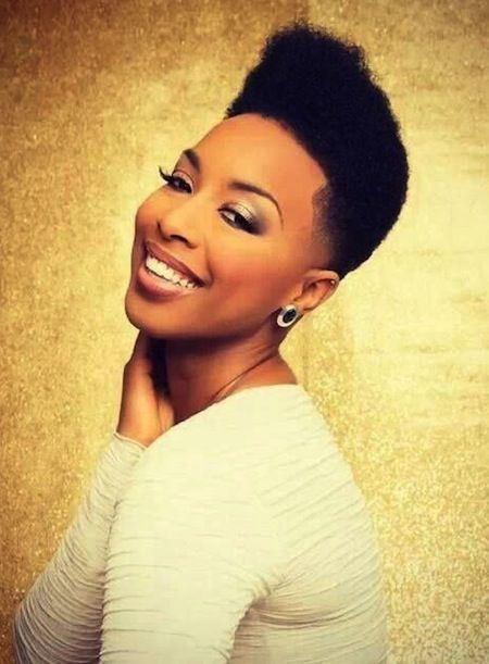 High Top Fade With Short Sides Tapered Natural Hairstyle