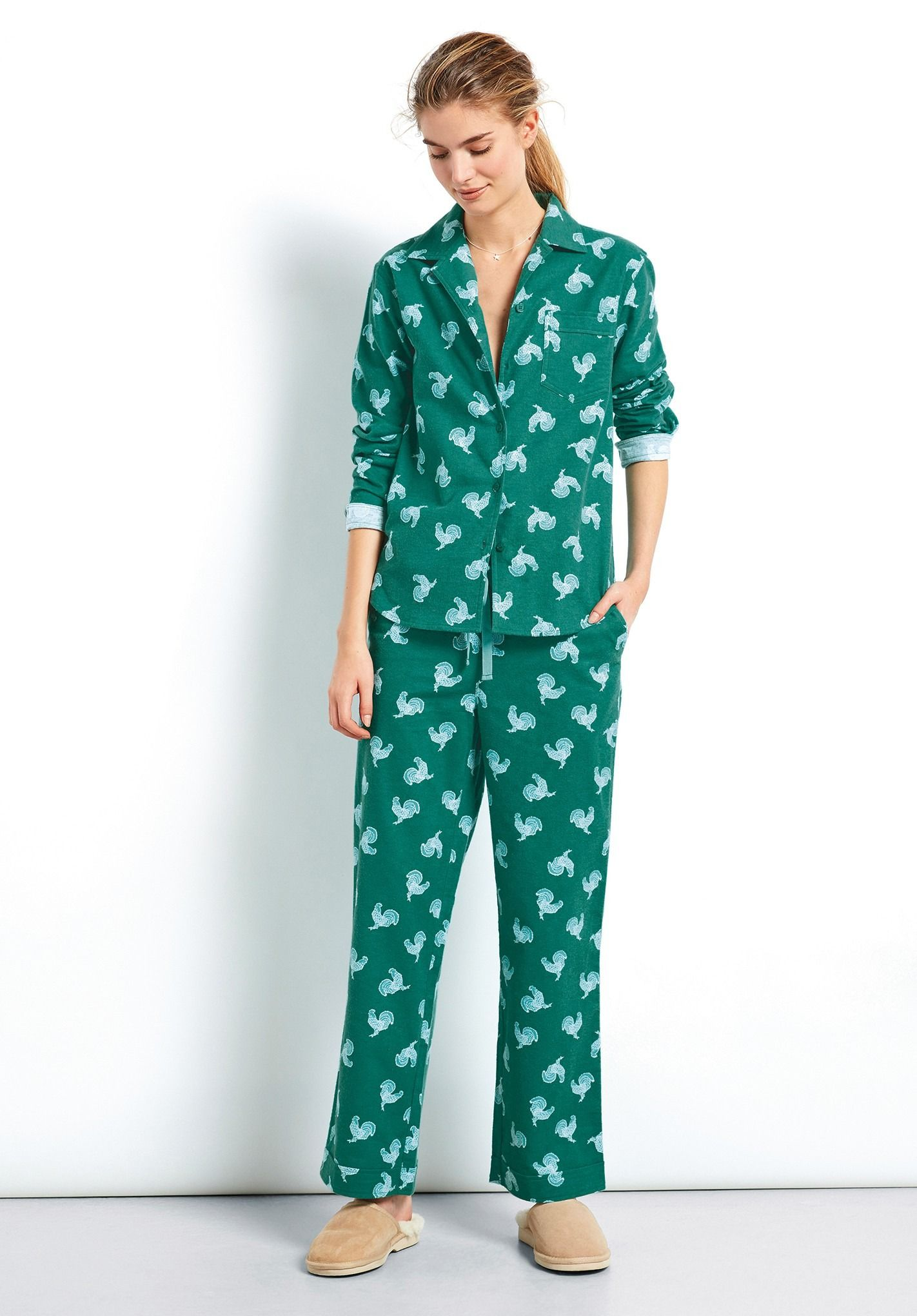 3818b44a6a Rooster Flannel Pyjamas