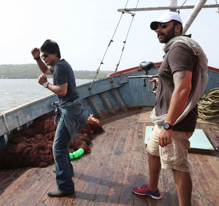 On location with SRK and Rohit Shetty - Chennai Express