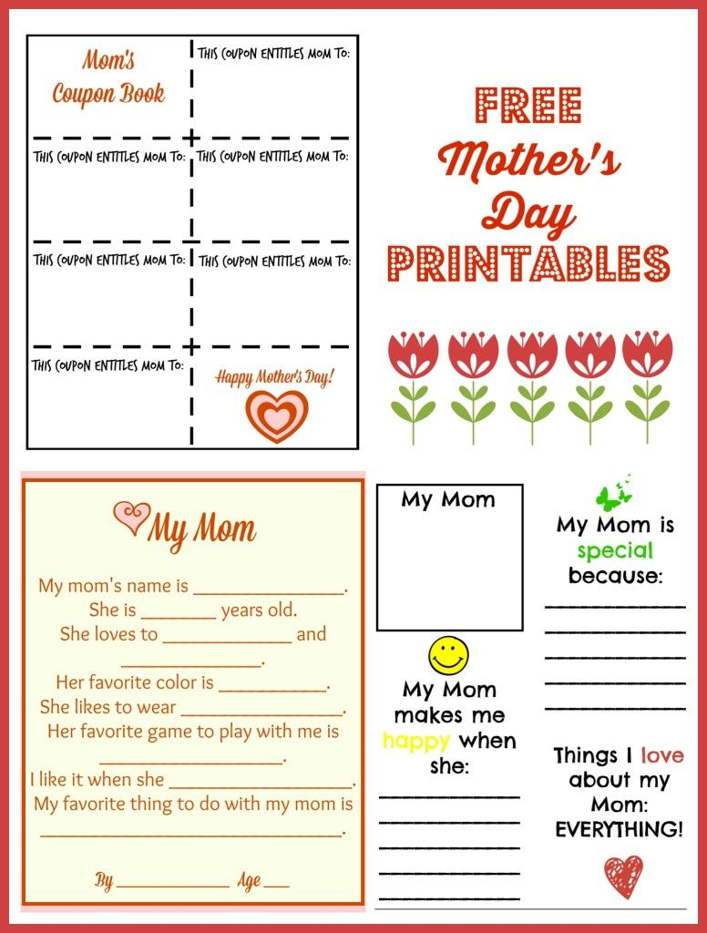 Free Mother S Day Printables Make It For Mom Mother S Day Printables Coupon Book Mother S Day Coupons Mother day coupon book template