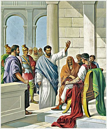 Paul before Festus Acts 25:1-11