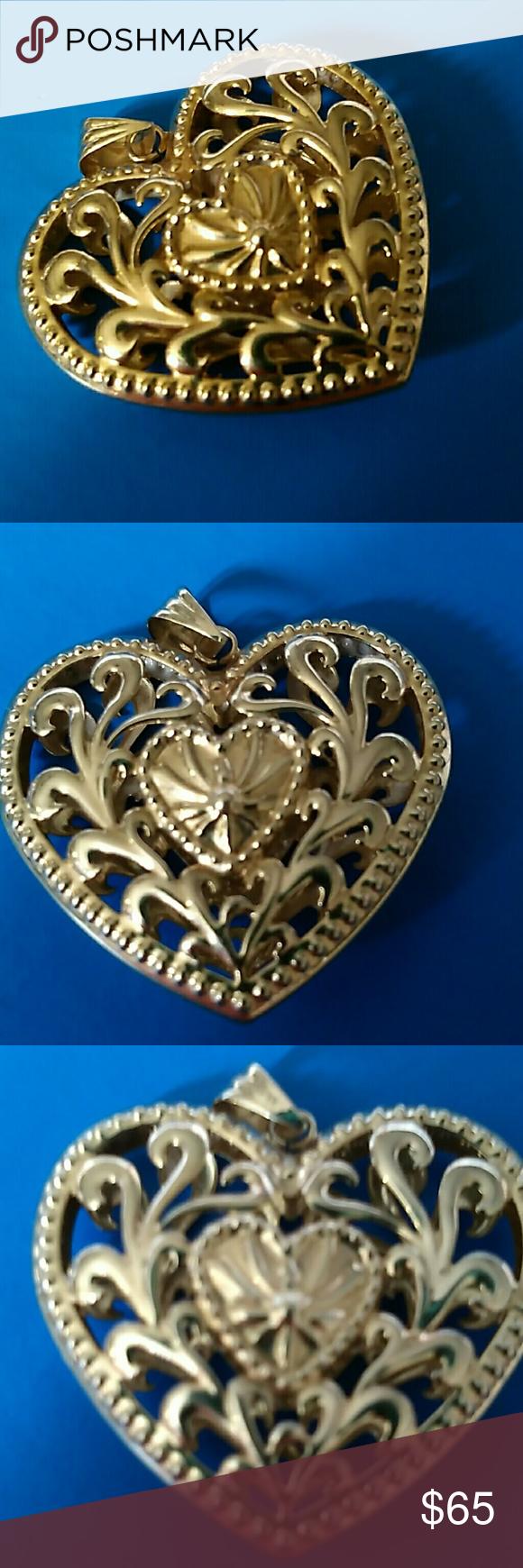 Heart pendant for necklace Larger Heart pendant so light