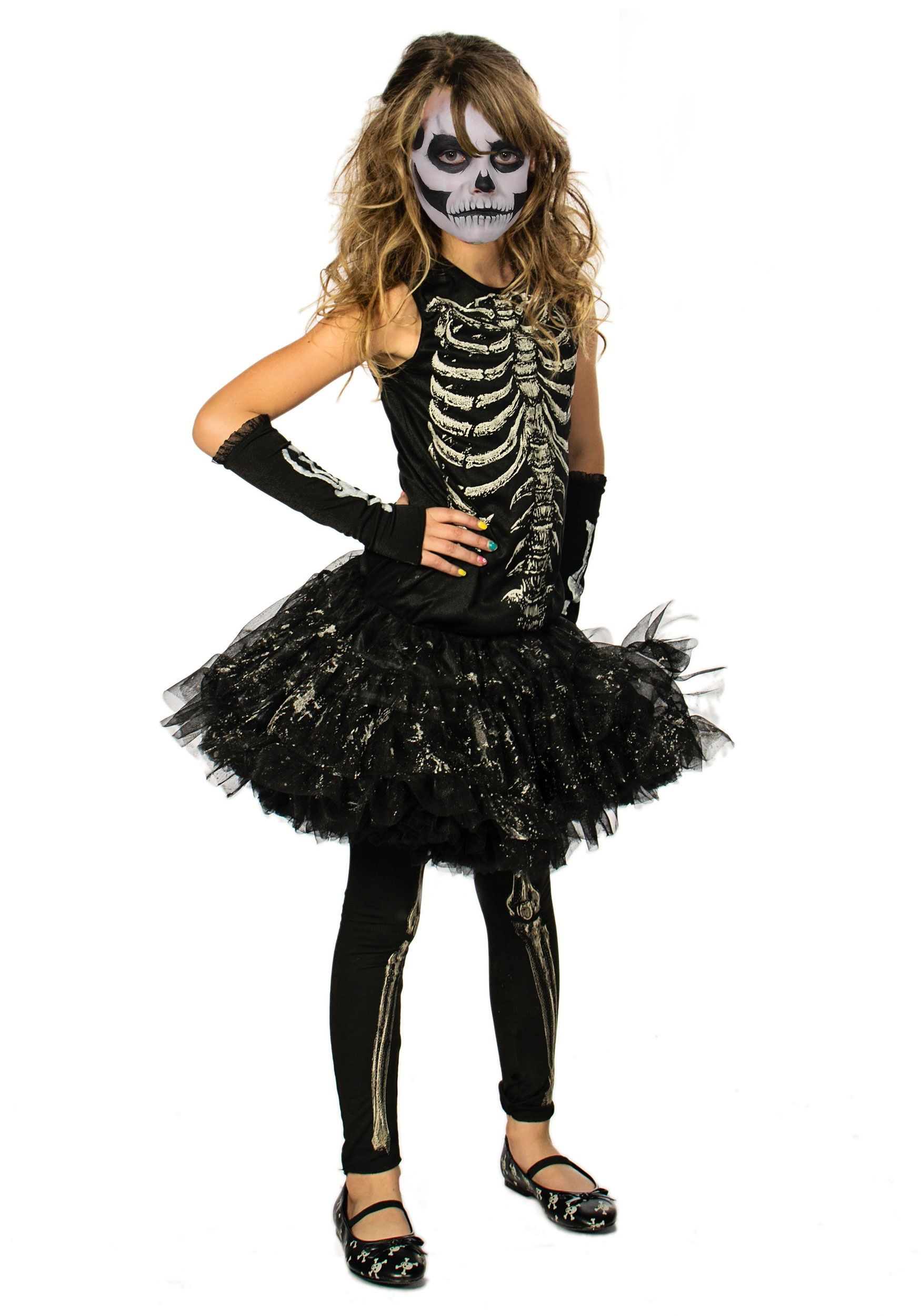 girls cutie bones skeleton costume - Skeleton Halloween Costume For Kids