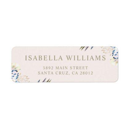 Elegant Romantic Watercolor Floral Wedding Label - script gifts