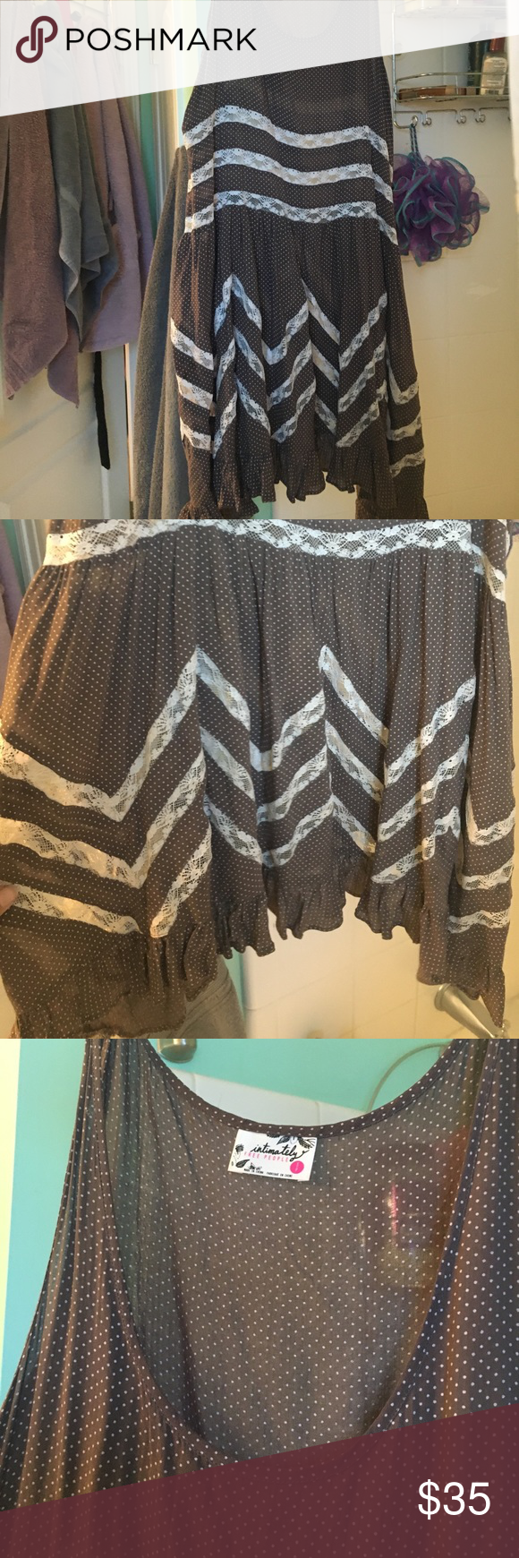 Free people tunic Size x small free people tanish brown can wear with jeans or alone Free People Dresses Mini