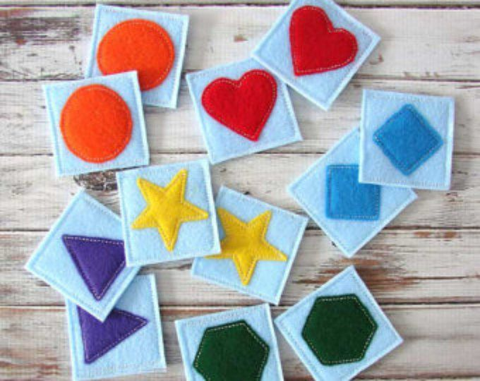 Photo of Game Awakening Child, Game Memory, inspirado en Montessori, Rainbow, Child, Baby Fabric Game Gift