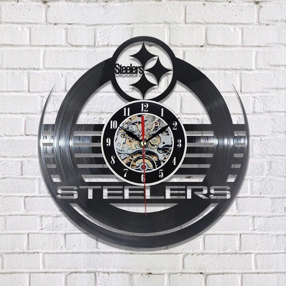 fd50ec12 Pittsburgh Steelers Nation NFL Vinyl Record Clock | Cool Projects ...