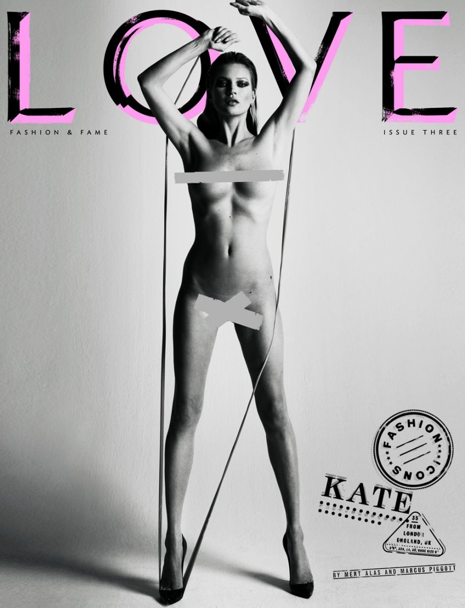 Kate Moss Strips Down For Cheeky Magazine Cover images