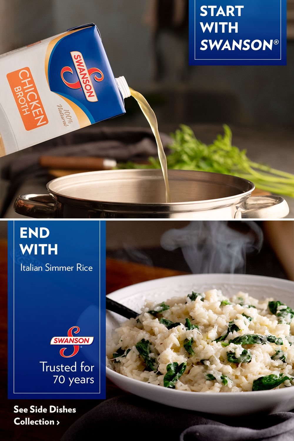 Don't think twice on the rice. Start with Swanson to make