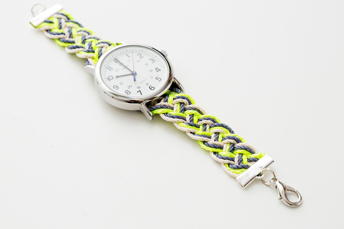 Summer Style Hack Create A Neon Nautical Watch Strap Watch