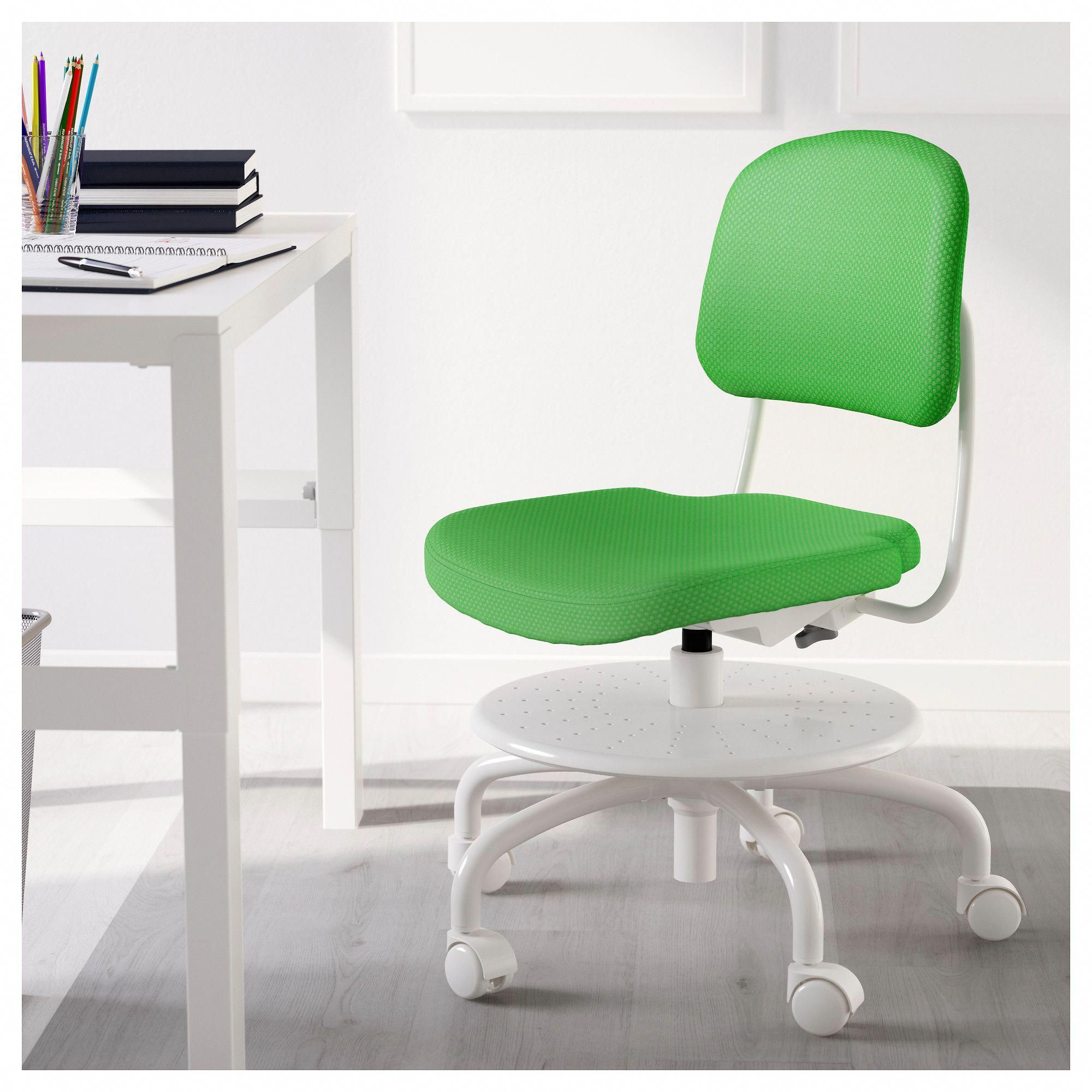 Incredible Ikea Vimund Childs Desk Chair Bright Green Deskchair Gmtry Best Dining Table And Chair Ideas Images Gmtryco