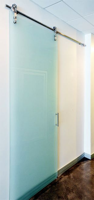 Modern glass interior barn doors doors glass bathroom - Contemporary glass doors interior ...